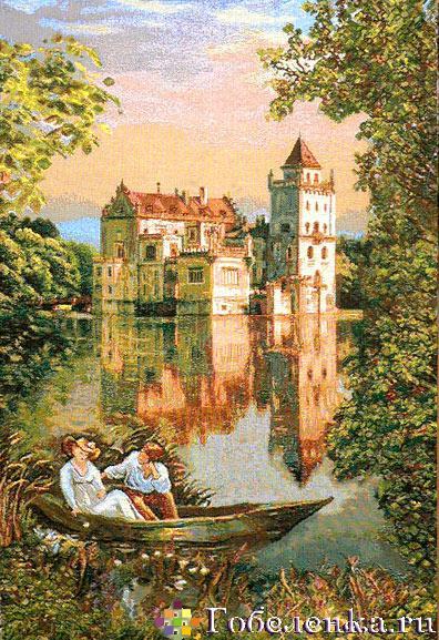 """Гобеленовая картина  """"Замок мечты """" / Архитектура, пейзажи / Гобеленовые..."""